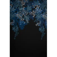 Fabtrends Ity Single Border Floral Denim