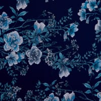 Fabtrends Ity Floral Denim