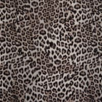 Fabtrends Langham Twill With Foil Leopard Taupe