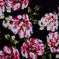 Fabtrends Ity Watercolor Floral Rust Pink