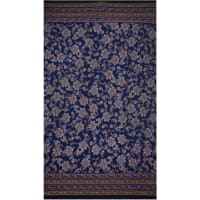 Fabtrends Ity Double Border Paisley Light Navy Wine