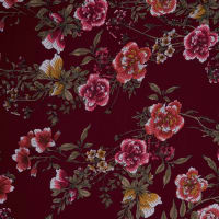Fabtrends Ity Floral Light Wine Rust