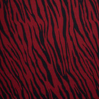 Fabtrends Rib Suede Zebra Black Red