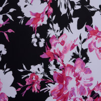 Fabtrends Ity Spring Floral Fuschia