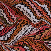 Fabtrends Ity Abstract Olive Coral