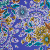 Fabtrends Ity With Foil Floral Purple
