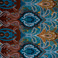 Fabtrends Ity Paisley Teal Gold