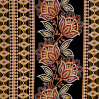 Fabtrends Ity Damask  Black Rust