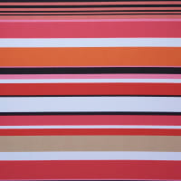 Fabtrends DTY Uneven Stripe Pink Orange