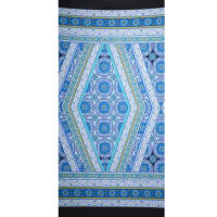 Fabtrends Ity Aztec Double Border Blue