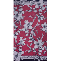 Fabtrends Ity Double Border Floral Uv Pink