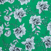 Fabtrends Millenium Cabbage Rose Floral Green