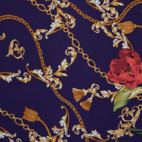 Fabtrends Ity Baroque Floral Purple Red