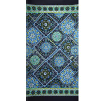 Fabtrends Ity Double Border Bandana Navy Blue