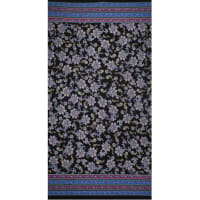 Fabtrends Ity Double Border Paisley Black Bright