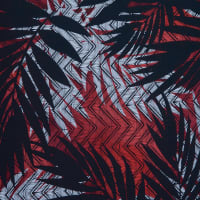 Fabtrends Ity Tropical Chevron Black Red