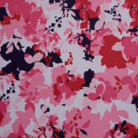 Fabtrends Ity Blurred Floral Navy Pink