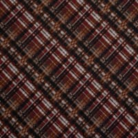 Fabtrends Sweater Knit Plaid Netural Rust