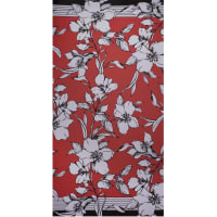 Fabtrends Ity Double Border Floral Flame