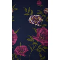 Fabtrends Ity Large Floral Navy Wine