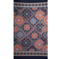 Fabtrends Ity Double Border Bandana Blue Red