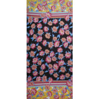 Fabtrends Ity Double Border Floral Bright