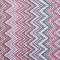 Fabtrends Hi Multi Chiffon With Puff Ethnic Chevron Wine Red