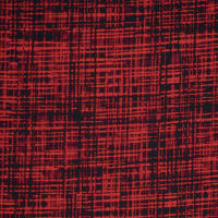 Fabtrends Washer Ghost Abstract Plaid Red