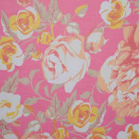 Fabtrends Savannah Yoryu Vintage Floral Fuschia Yellow