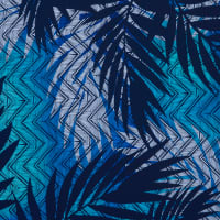 Fabtrends Ity Tropical Chevron Royal Turq