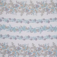 Fabtrends Yoryu Chiffon Abstract Floral Lavender Teal