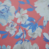 Fabtrends Savannah Yoryu Floral Bouquet Red Tan