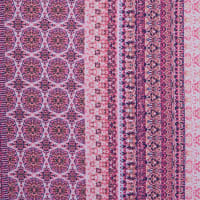 Fabtrends Ity Double Border Aztec Pink Coral