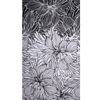 Fabtrends Ity Cabbage Flower Black White