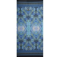 Fabtrends Ity Double Border Paisley Denim Lime