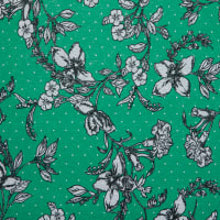 Fabtrends Holiday Floral With Dot Green