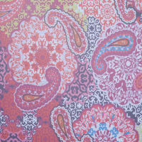 Fabtrends Hi Multi Chiffon With Puff Floral Paisley Navy Pink