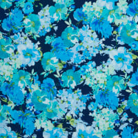 Fabtrends Mohana Watercolor Floral Navy Blue