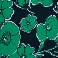 Fabtrends Ity With Puff Floral Black Kelly