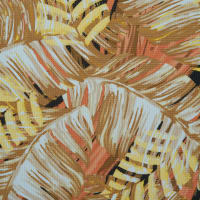 Fabtrends Sunrise Knit Tropical Palm Taupe Yellow