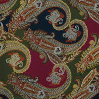 Fabtrends Nu Suede Paisley Olive Burgundy