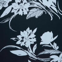 Fabtrends Ity Floral Black White