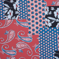 Fabtrends Ity Patchwork Red Blue