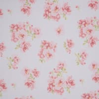 Fabtrends Hi Multi Chiffon Floral White Pink