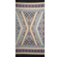 Fabtrends Ity Aztec Double Border Yellow