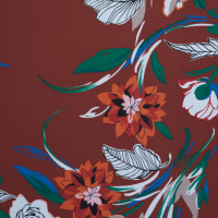 Fabtrends Ity Floral Chocolate Rust