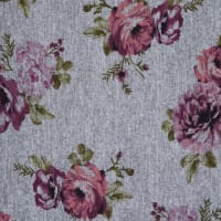 Fabtrends Hacci Floral White Mauve Olive Green
