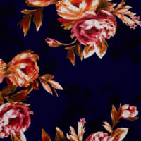 Fabtrends DTY Floral Bouquet Midnight Fuschia