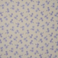 Fabtrends Yoryu Chiffon Floral Patch Butter Navy Ivory
