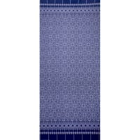 Fabtrends Ity Single Border Ikat Navy Ivory